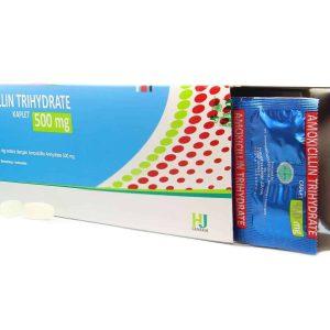 Amoxicillin Trihydrate 500 mg (Generik - Hexapharm Jaya)
