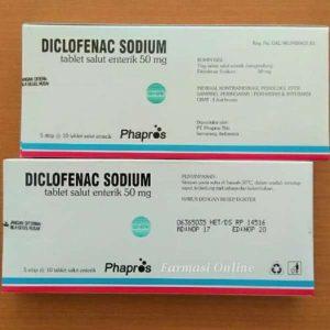 Diclofenac Sodium 50 mg (Generik - Phapros)