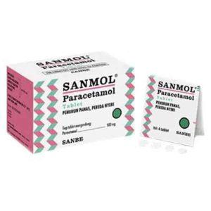 Sanmol 500 mg 4 Tablet